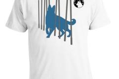 hvit gjeterhund t-skjorte